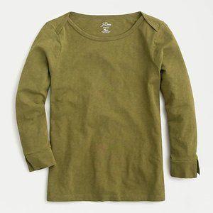 J.Crew Boatneck painter slub T-shirt in Olive